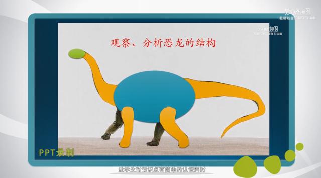 画恐龙微课分析